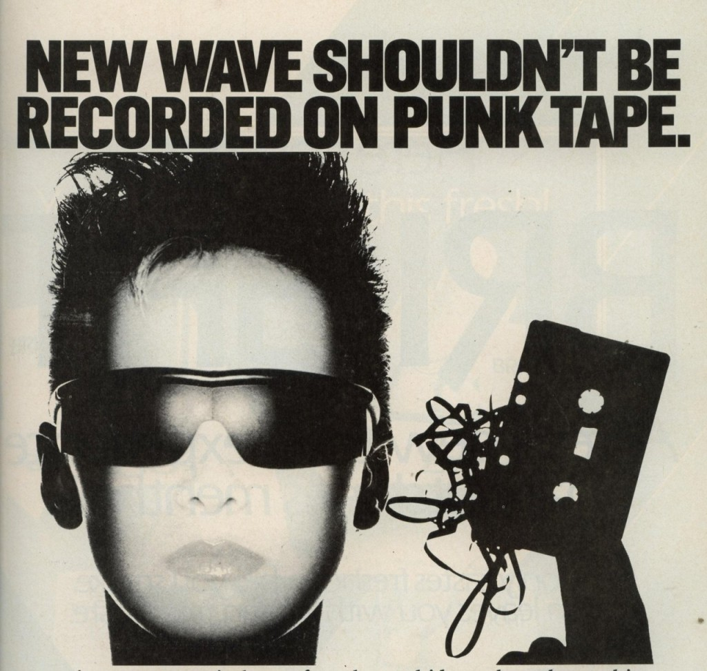 NEW WAVE ON PUNK TAPE (ca. 1983)