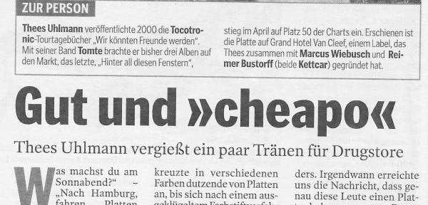 Hamburger Morgenpost vom 22.08.2003 ( (c) Mopo)