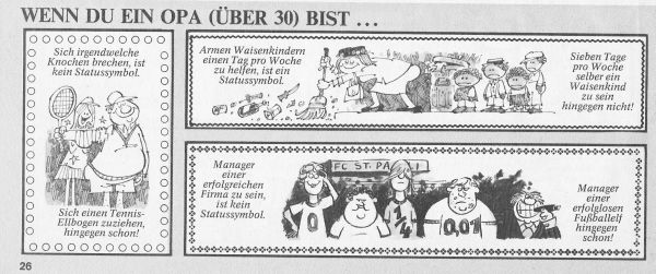 Anfang der 80er - FCSP als Gespött! ( (c) MAD Magazin 198x)