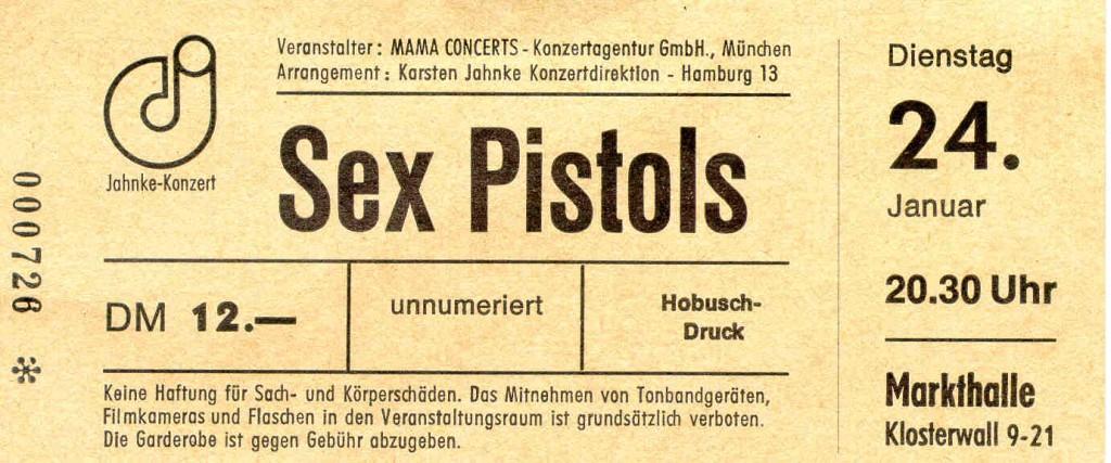 Sex Pistols (Hamburg, Markthalle, 24.01.1978)