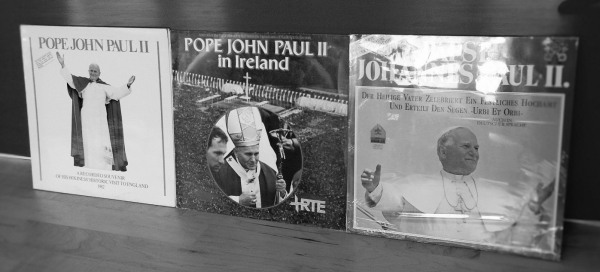 The fucking Pope all over England, Ireland and Germany (love those novelty records!)