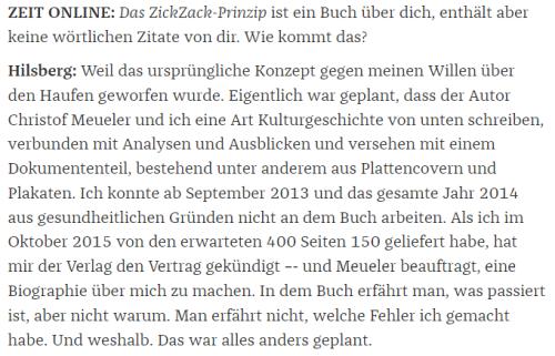 Alfred Hilsbert in Die Zeit ( (c) Zeit Online 2016)