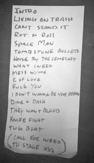 Die Rötzz - Setlist (Hafenklang, Hamburg, 27.08.2016)