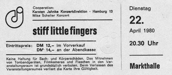 Stiff Little Fingers (Markthalle, Hamburg, 22.04.1980 - from the vault of the Archive)