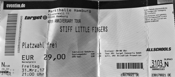 Stiff Little Fingers (Markthalle, Hamburg, 31.03.2017 - nuthin for the vault))