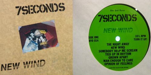 7 Seconds - New Wind (Better Youth Organisation BYO 014 / Postive Force Records 08, 1986)