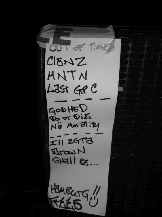 Burn - Set List (Hafenklang, hamburg, 11.03.2018)