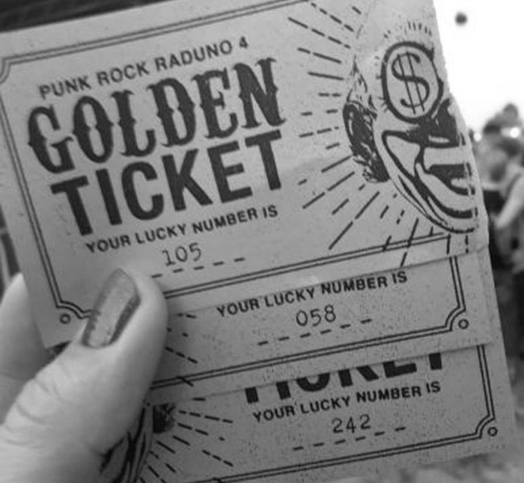 ... my PRR Golden Tickets thanks to Nicole, though without luck!