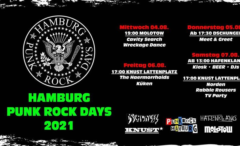 … one forth of the Hamburg Punk Rock Days 2021, only!